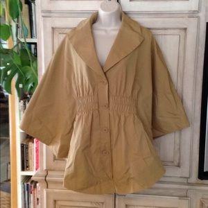 New York & Company sz M poncho Jacket Beige
